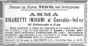 Alla scoperta della Cannabis Sativa Italiana - Sigarette di Canapa Indiana, prodotte dalla Farmacia Terni, sul Sentieronedo