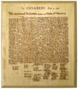 Dichiarazione d'Indipendenza - Hemp e Guerra d'Indipendenza Americana