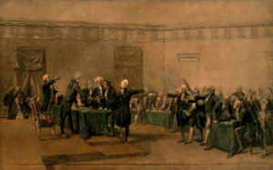 Congresso riunito per firmare la Dichiarazione d'Indipendenza - Hemp e Guerra d'Indipendenza Americana