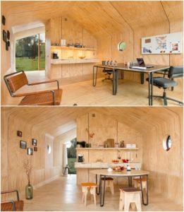 Case prefabbricate - Possibili allestimenti interni della Wikkelhouse