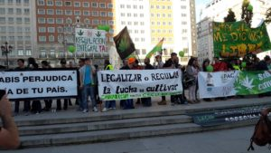 Million Marijuana March di Madrid