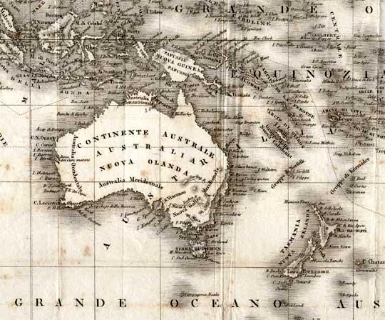 La Canapa in Australia - Cartografia antica dell'Australia