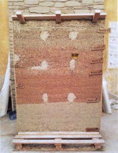 Modello per prove di muratura in canapulo e calce