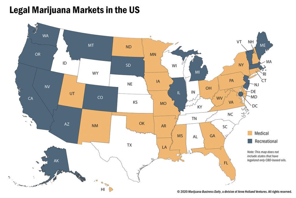 Legalizzazione cannabis negli Usa, a che punto siamo